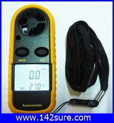 DWS001: เครื่องวัดความเร็วลม เครื่องวัดลม Digital Wind Speed Gauge / Wind Sport Anemometer (พร้อม Package seal) ยี่ห้อ OEM รุ่น