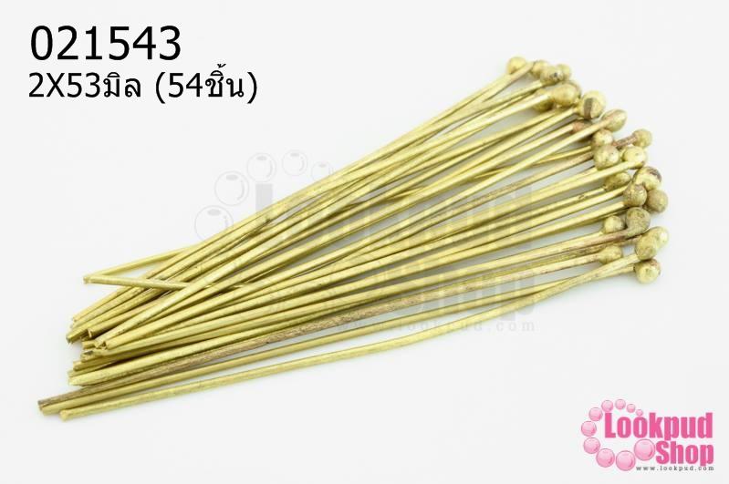 ตะปูหัวหมุด สีทองเหลือง 2X53มิล (10กรัม)