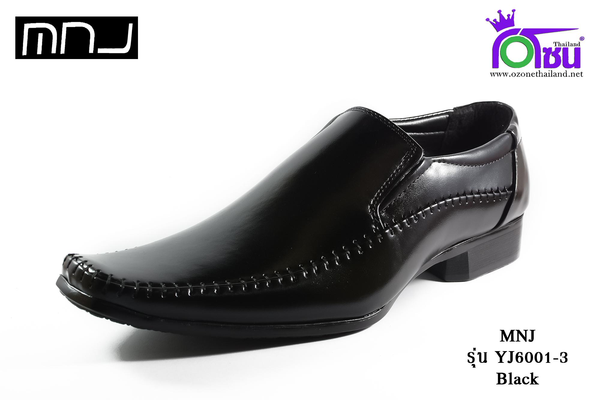 รองเท้าคัทชู MNJ เอ็มเอ็นเจ รหัส YJ6001-3 สีดำ เบอร 40-44