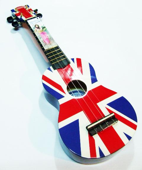 """อูคูเลเล่ Ukulele Mahalo (England) Art England flag Maple สาย Clear Soprano 21"""" ฟรีกระเป๋า"""
