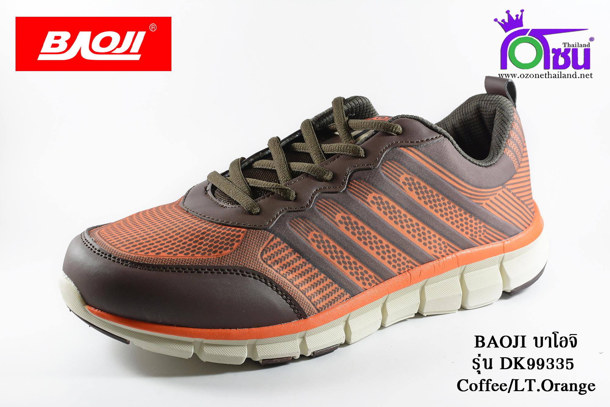 ผ้าใบวิ่ง BAOJI บาโอจิ รุ่น DK99335 สีน้ำตาลส้ม เบอร์ 41-45