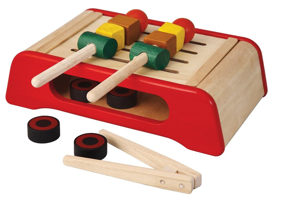 ของเล่นไม้ ของเล่นเด็ก ของเล่นเสริมพัฒนาการ BBQ Grill ชุดย่างบาร์บีคิวคุณหนู [ส่งฟรี]