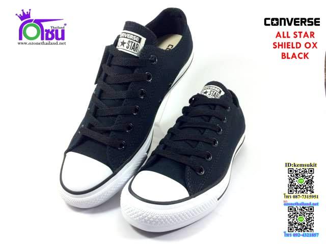 ผ้าใบ Converse All Star SHIELD ox Black สี ดำ เบอร์4-10