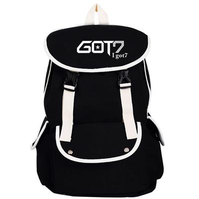 กระเป๋าสะพายหลัง GOT7 LOGO สีดำ
