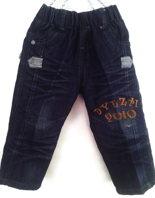 JD1189 กางเกงยีนส์เด็กชาย ดีไซส์ลายปักเท่ห์ทั้งด้านหน้า-หลัง เอวยางยืด Size 4-6 ขวบ ขายปลีกในราคาส่งให้เลยจ้า