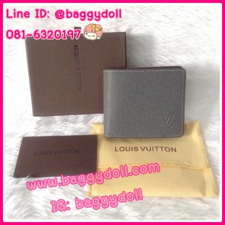 Louis Vuitton Taiga Wallet กระเป๋าสตางค์หลุยส์ ใบสั้นสองพับ **เกรดAAA+** เลือกสีด้านในค่ะ