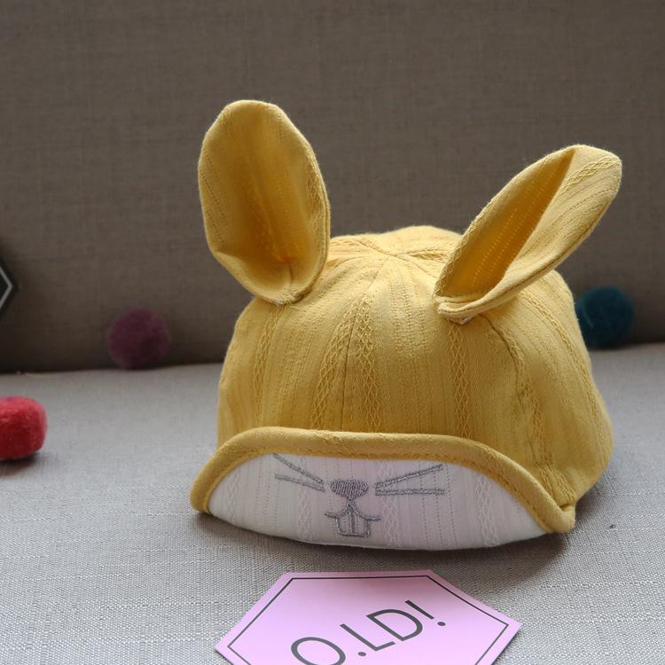หมวกเด็กลายกระต่ายสีเหลือง แพ็ค 3 ชิ้น