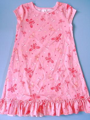 CTP025 Carter's ชุดนอนเด็กหญิง ชุดลำลอง สาวน้อย ผ้ายืดคอตตอน สีชมพูเข้ม ลายผีเสื้อ Size 2T