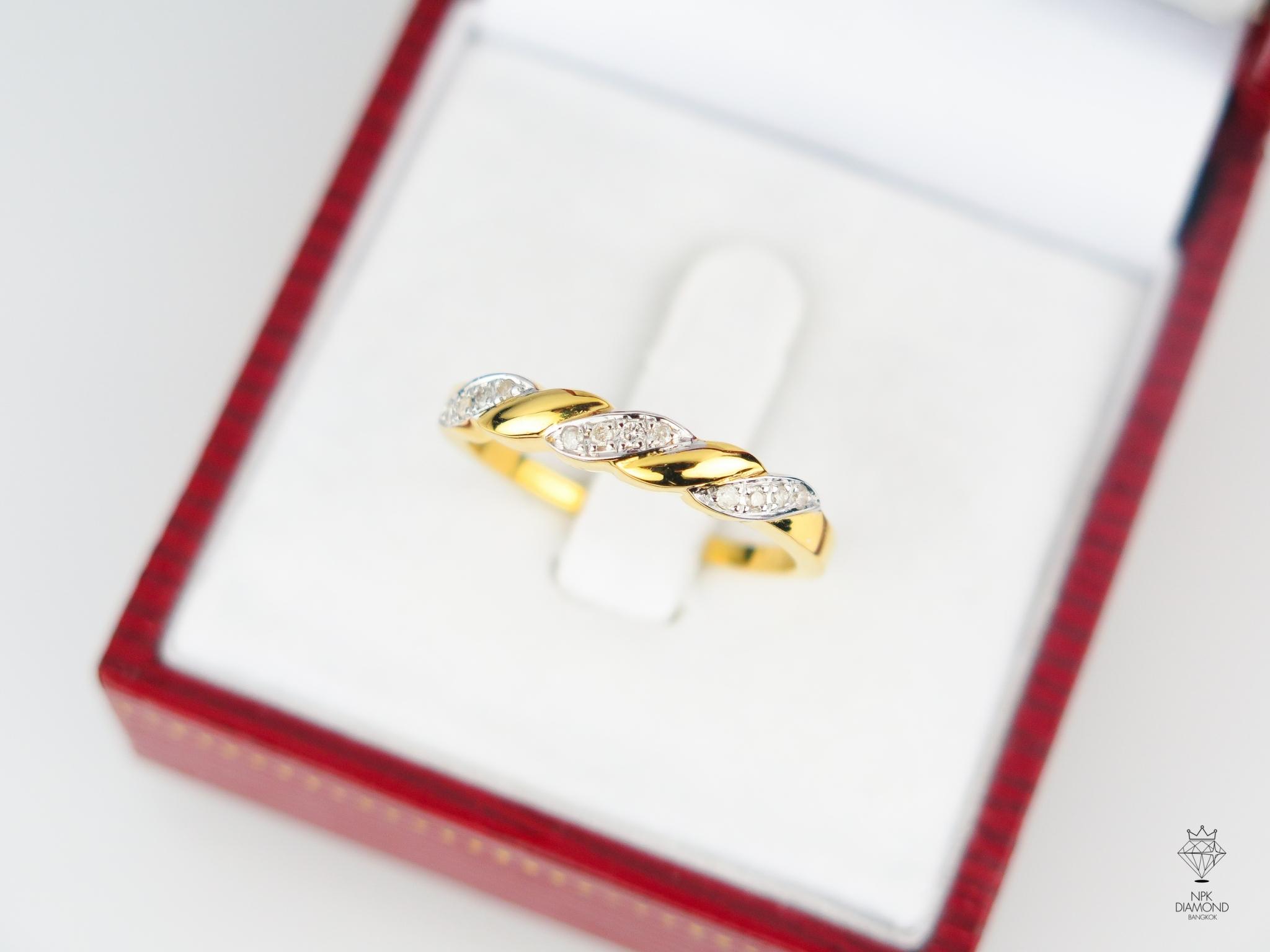 แหวน 9K เม็ดข้าวเพชรเม็ดข้าวทอง