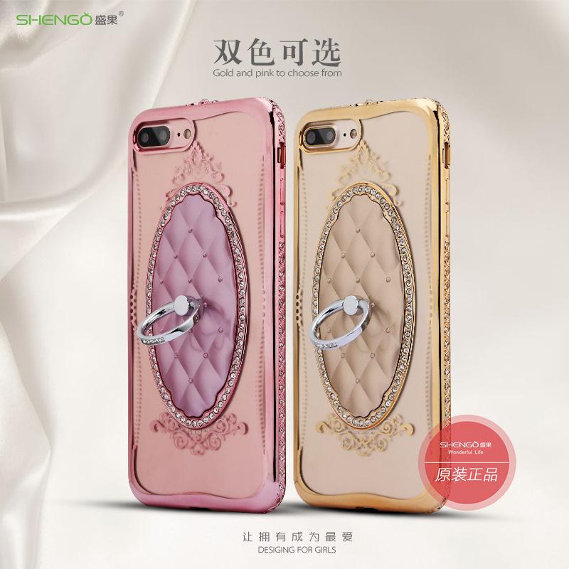 เคสนิ่มแหวนเพชรตั้งได้ ไอโฟน 7 plus (5.5 นิ้ว)