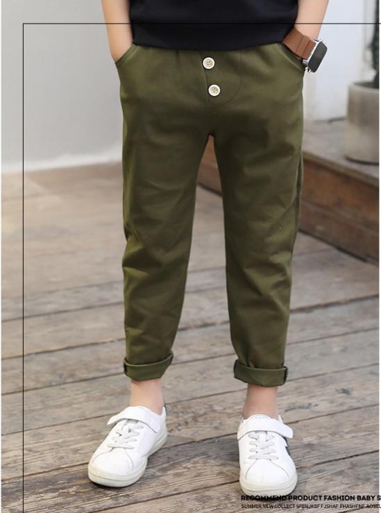 กางเกง สีเขียว แพ็ค 5 ชุด ไซส์ 120-130-140-150-160 (เลือกไซส์ได้)