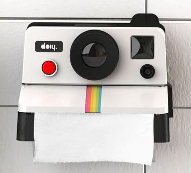Polaroll กล่องใส่กระดาษทิชชู่ในห้องน้ำรูปกล้อง Polaroid