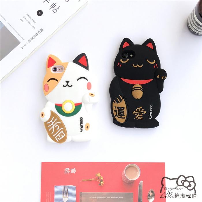 เคส iPhone 6 Plus / 6s Plus (5.5 นิ้ว) ซิลิโคน soft case แมวกวักนำโชค Lucky Neko ราคาถูก