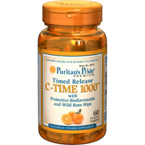 Puritan's PrideVitamin C-1000 mg with Rose Hips Timed Release