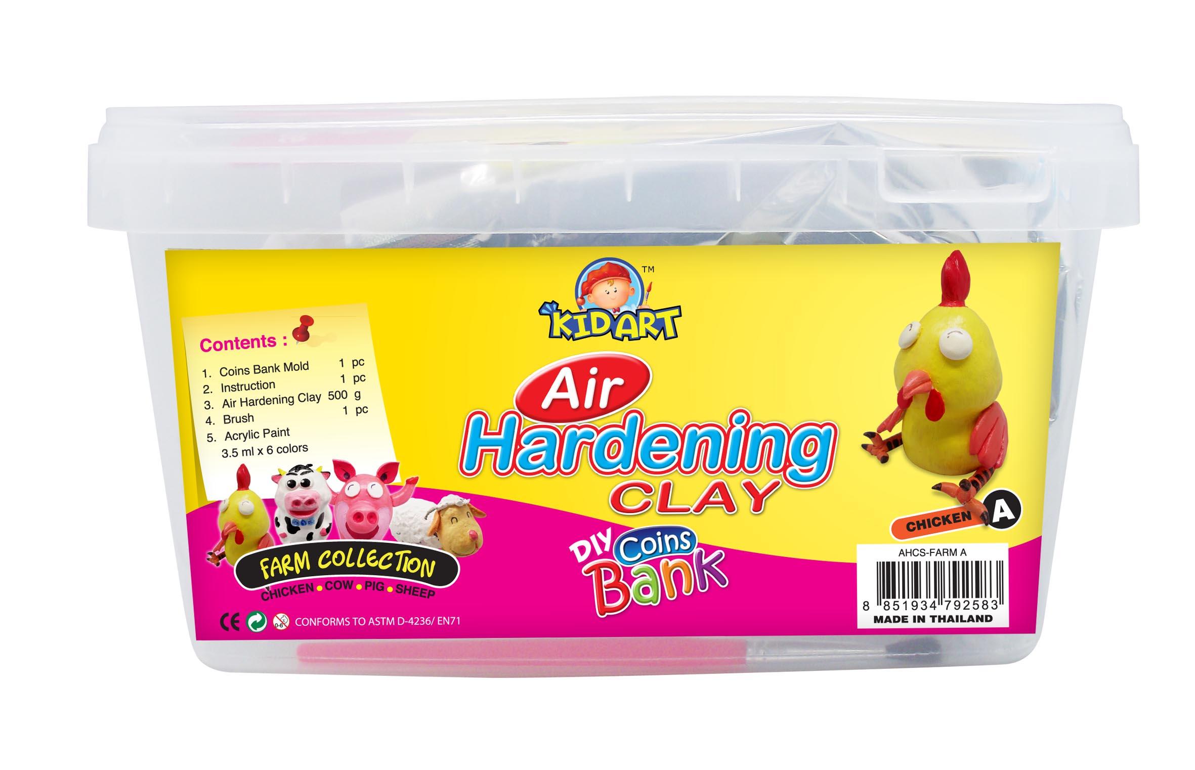 ชุดประดิษฐ์กระปุกออมสินดินธรรมชาติ :(D.I.Y. Air Hardening Clay Coin Bank)