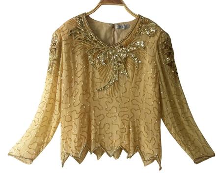 เสื้อวินเทจ งานปักเลื่อม (sequin)