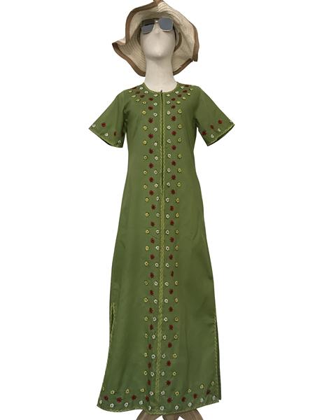 ชุดเดรสวินเทจ เดรสยาว Vintage Hand Embroidered Dress