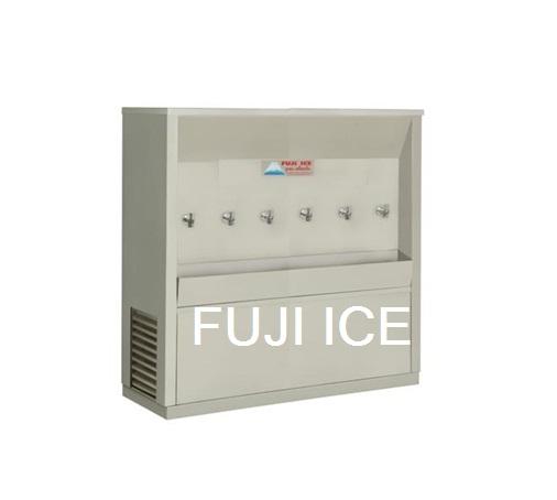 ตู้ทำน้ำเย็นต่อท่อประปา 6 ก๊อก ฟูจิไอซ์