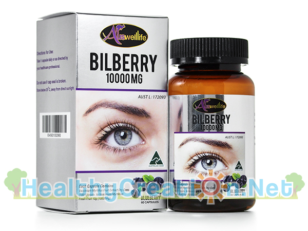 Auswelllife Bilberry ออสเวลล์ไลฟ์ บิลเบอร์รี่ 1000 มก. [60 แคปซูล] เพิ่มสมรรถภาพในการมองเห็น ช่วยถนอมดวงตา [ส่งฟรี EMS]