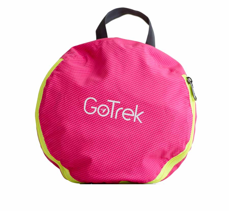 Gotrek B-01F กระเป๋าเป้ฟิตเนสพับได้ สีชมพู