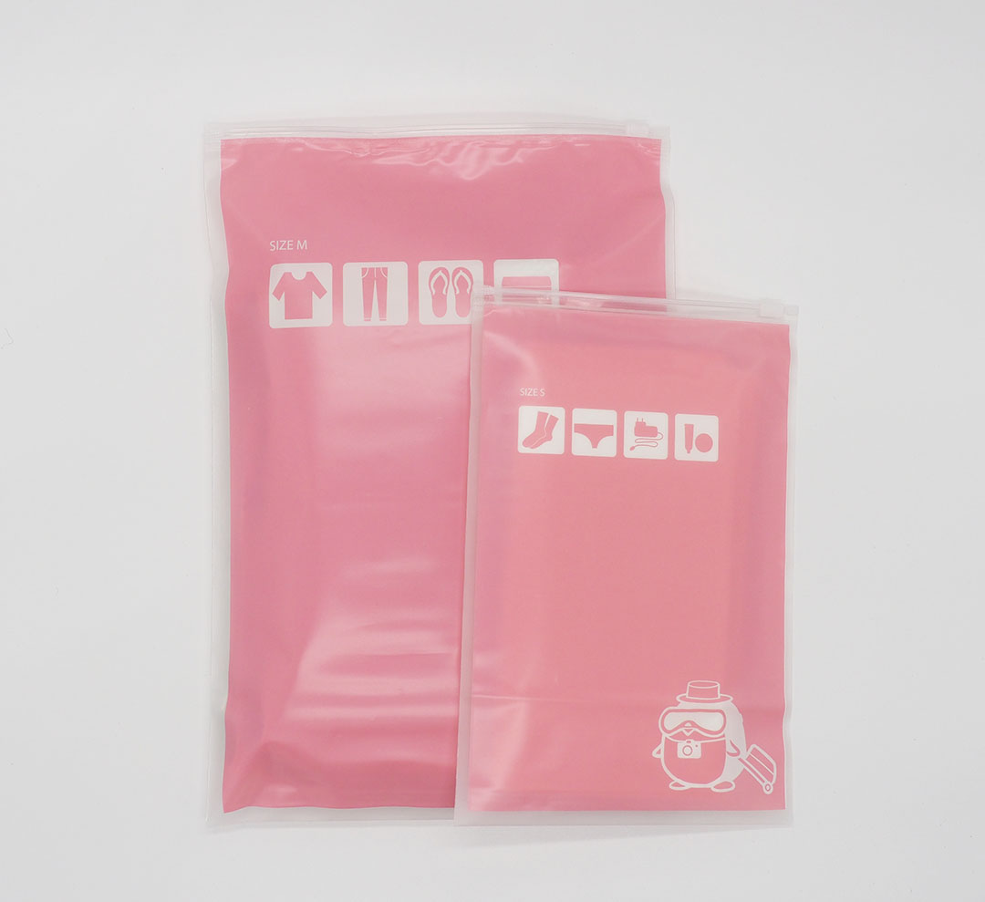 [เซต 5 ชิ้น] ถุงซิปรูดเอนกประสงค์ สำหรับใส่ของจัดระเบียบกระเป๋า Size S 2 ชิ้น Size M 3 ชิ้น