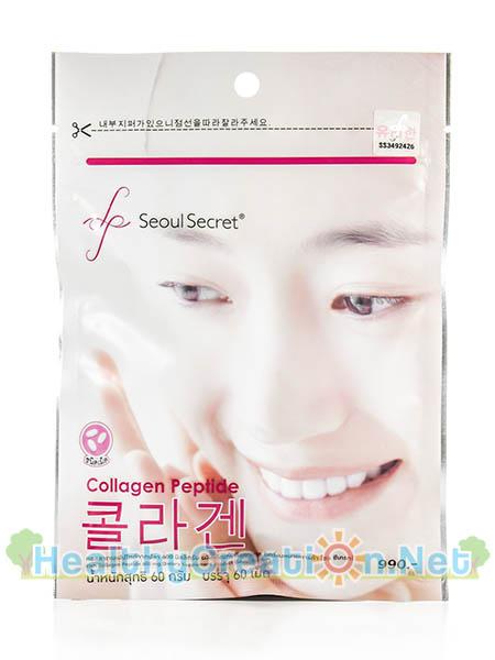 Seoul Secret Collagen Peptide โซล ซีเคร็ท คอลลาเจน เปปไทด์ บรรจุ 60 เม็ด ช่วยลดความหมองคล้ำ ผิวขาวกระจ่างใสขึ้น รูขุมขนเล็กลง