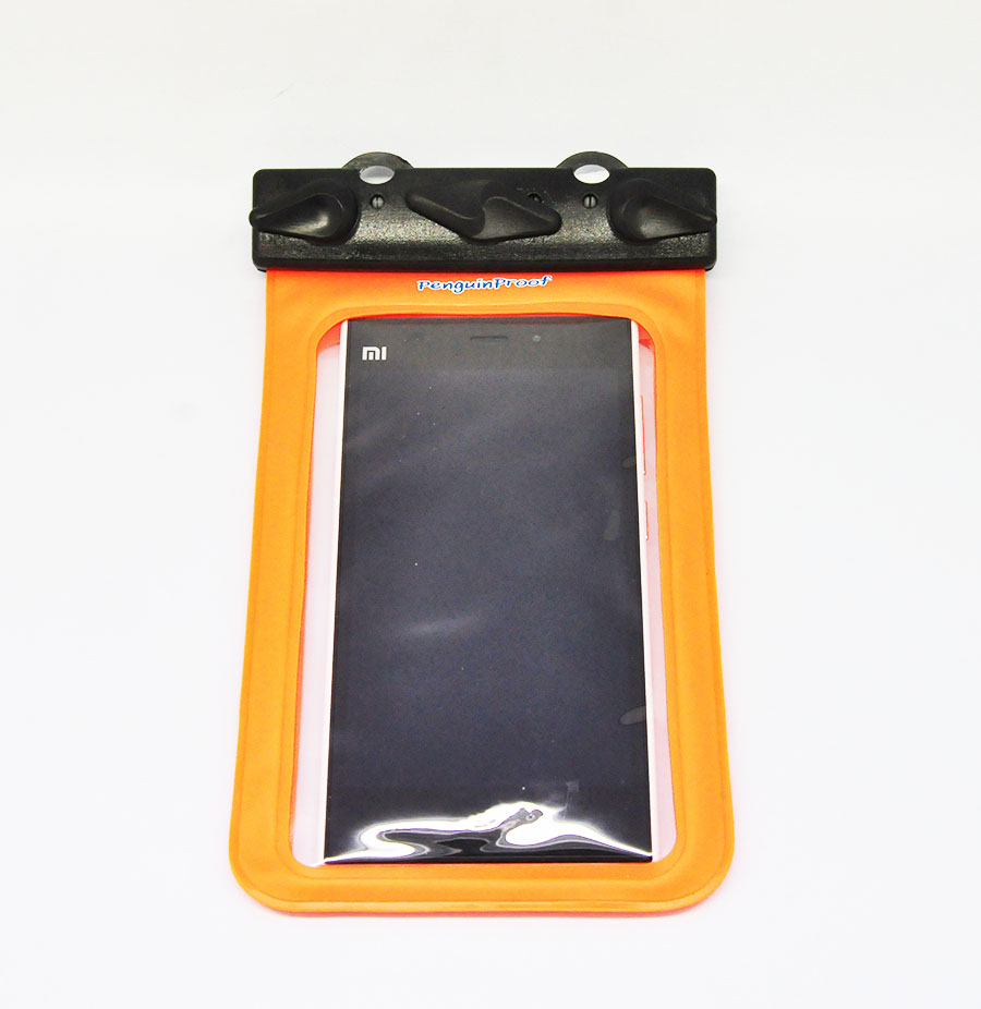 M-55C ซองกันน้ำโทรศัพท์มือถือขนาดไม่เกิน 5.5 นิ้ว สีส้ม