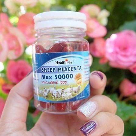Healthway Sheep Placenta Max 50000 รกแกะเฮลท์เวย์ 30 แคปซูล