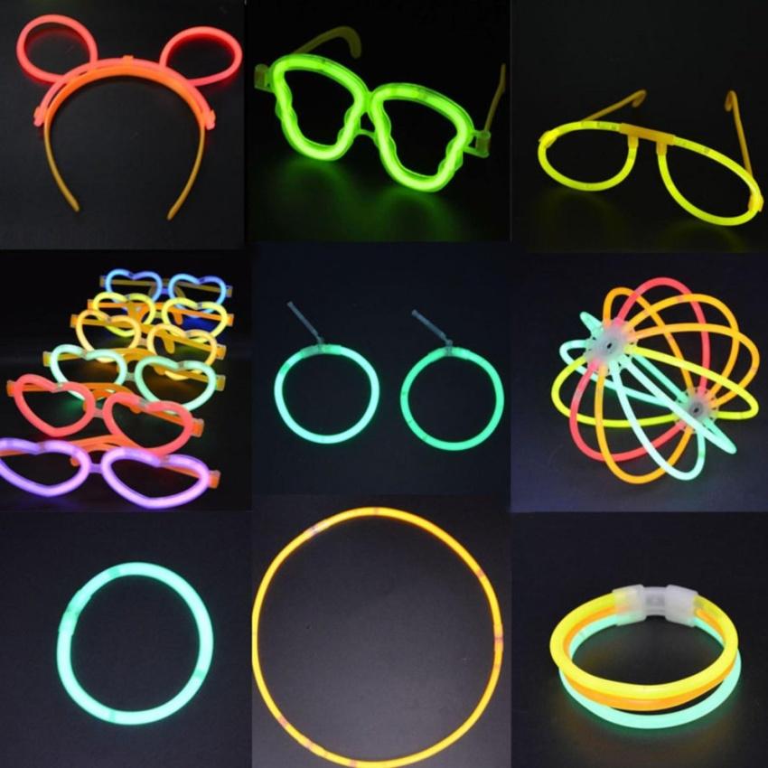 ไปคอนเสิร์ต ปาร์ตี้ งานรื่นเริง ต้องนี่เลย Glow Stick แท่งเรืองแสงมหัศจรรย์ เป็นกำไล สร้อยคอ กำไลข้อเท้า และอื่น ๆ ตามจินตนาการ 1 กล่อง 50 แท่ง