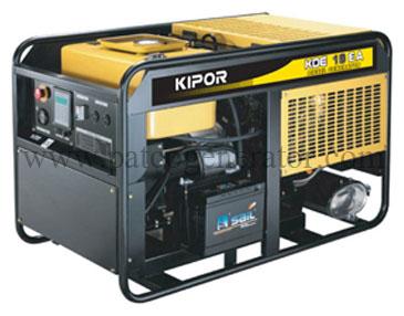 เครื่องกำเนิดไฟฟ้า เครื่องยนต์ดีเซลขนาด 16.7 KVA KIPOR #KDE19EA Diesel Generator Max. 16.7kva open type