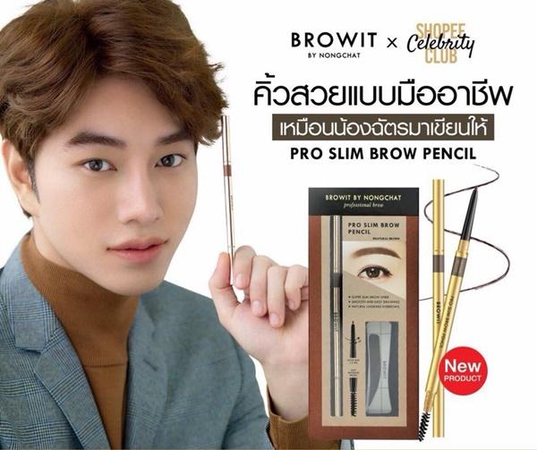 Browit By Nongchat Pro Slim Brow Pencil ดินสอเขียนคิ้ว 6 มิติ
