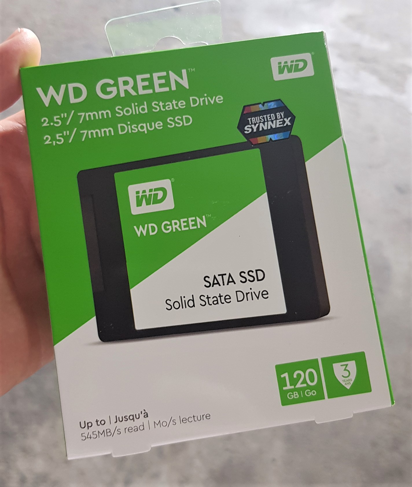 120 GB SSD (เอสเอสดี) WD GREEN (WDSSD120GB) SATA