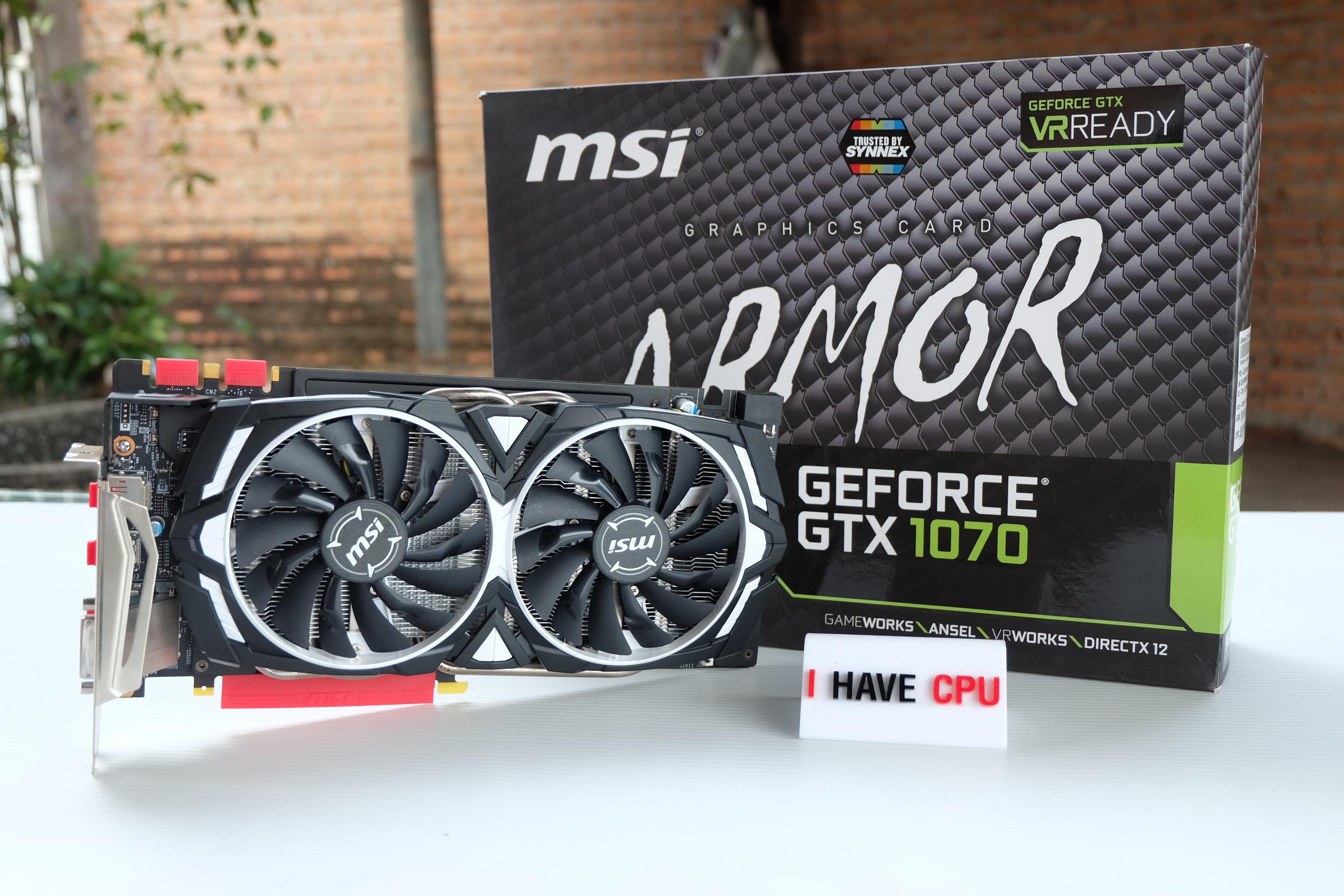 MSI Geforce GTX 1070 8GB ARMOR OC