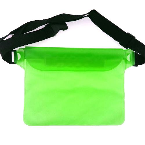 กระเป๋ากันน้ำคาดเอว สีเขียวสะท้อนแสง