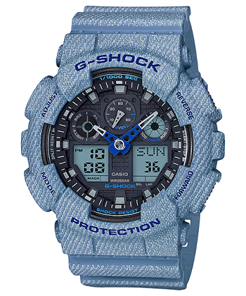 นาฬิกา G-SHOCK CASIO สียีนส์ DENIM'D COLOR รุ่น GA-100DE-2A SPECIAL COLOR ของแท้ รับประกันศูนย์ 1 ปี