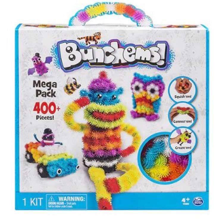 Bunchems ของเล่นตัวต่อ 400 ชิ้น สำหรับเด็ก เพื่อการเรียนรู้