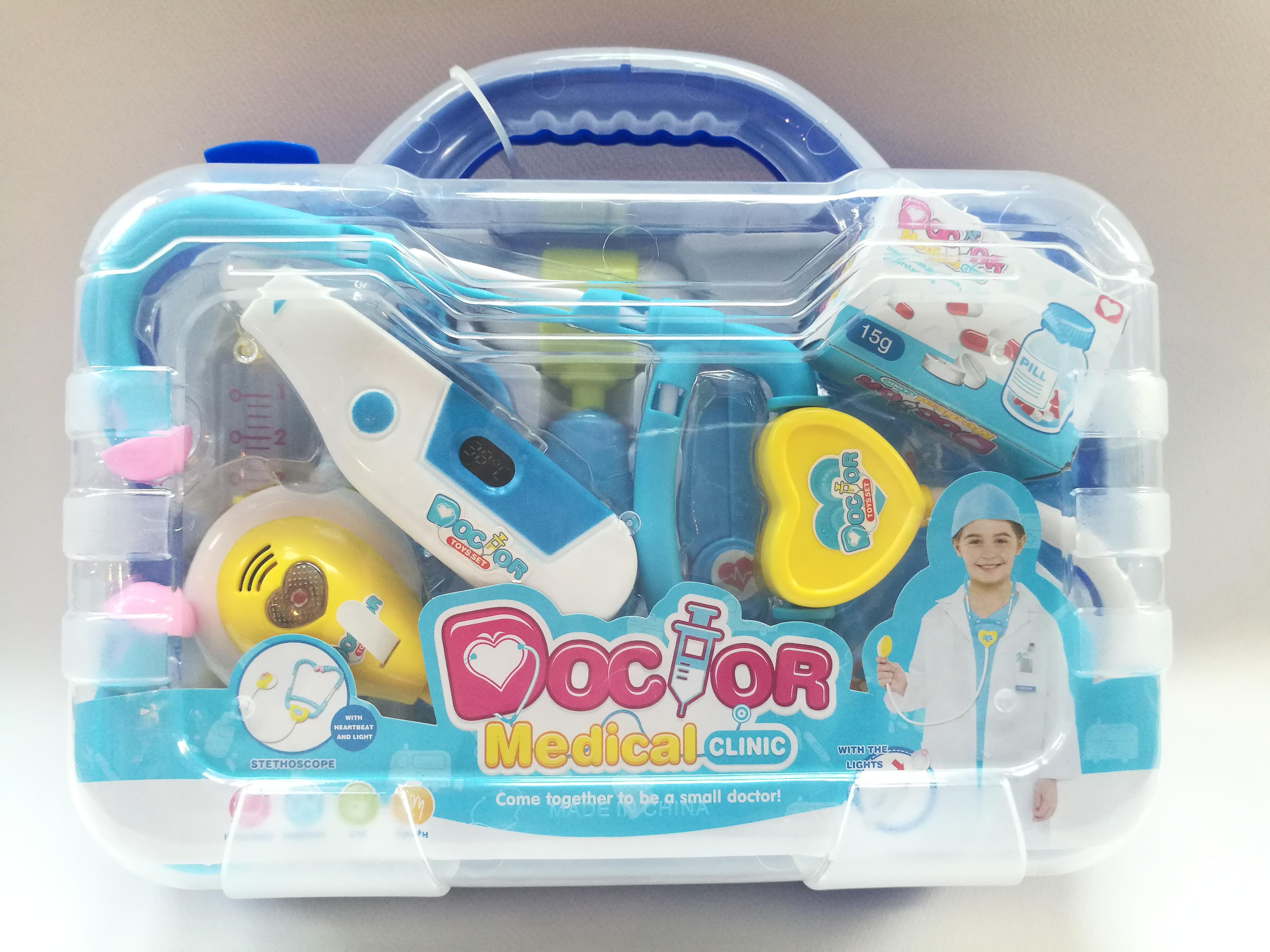 ชุดกระเป๋าคุณหมอมีเสียงมีไฟ Doctor medical clinic พร้อมส่งสีฟ้า และ ชมพู ส่งฟรี