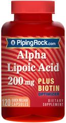 ควบคุมน้ำตาลในเลือด+บำรุงเส้นผม (กรดอัลฟาไลโปอิค+ไบโอติน) 200 mg. | 120 แคปซูล