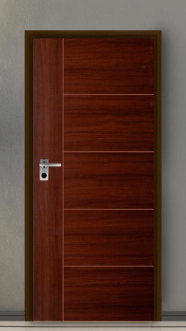 ประตู Leo iDoor Series4 iDoor-46-Mahogany(ภายใน) 3.4*80*200 เมตร