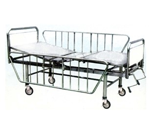 PP007 เตียงเฟาวเลอร์ 2 ไก Fowler Bed with 2 Cranks พื้นสแตนเลส