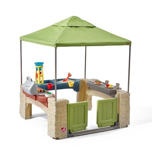 บ้านของเล่น ครบวงจร Step 2 All Around Playtime Patio Playhouse with Canopy