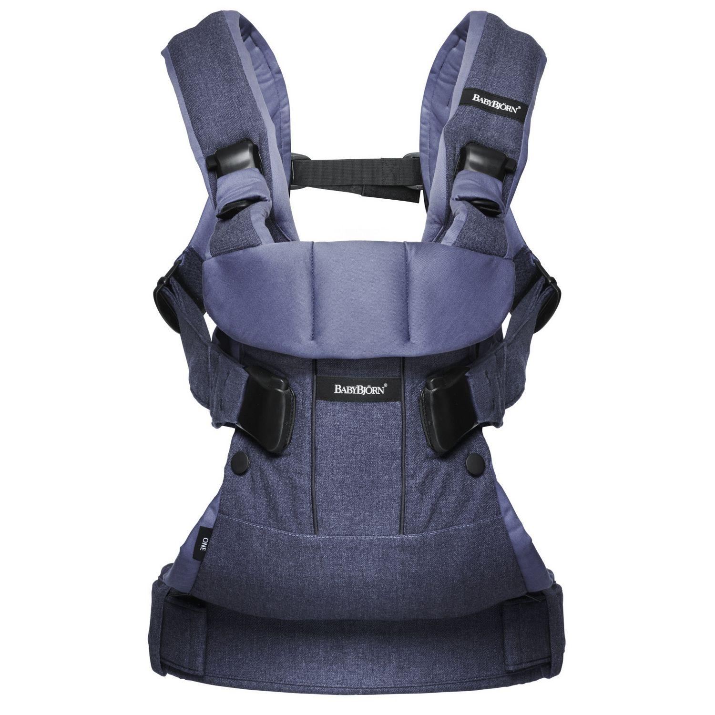 เป้อุ้มเด็ก BABYBJORN Baby Carrier รุ่น ONE สียีนส์ Denim Blue, Cotton Mix ยอดนิยม ออกใหม่ล่าสุด Limited Edition Color