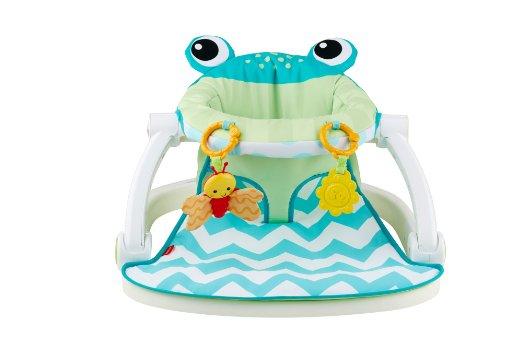 เก้าอี้ฝึกนั่ง Fisher-Price Sit-Me-Up Floor Seat, Citrus Frog ลายกบสุดซี้ด ออกใหม่ล่าสุด