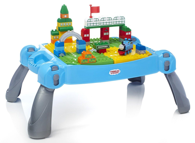 โต๊ะต่อบล๊อกโทมัส Mega Bloks Thomas & Friends Busy Day at Knapford Table Kids Building Set พร้อมยล๊อคอีก 65 ชิ้น