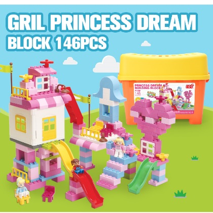 FUNLOCK 146 ชิ้น Girl Princess Dream Block