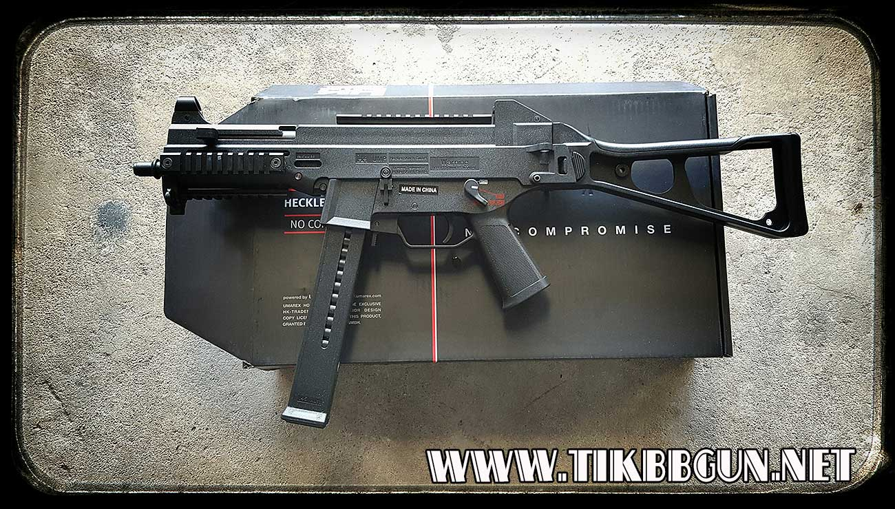 ปืนไฟฟ้ารุ่น UMP บอดี้พลาสติก มาร์คกิ้งครบสมจริง