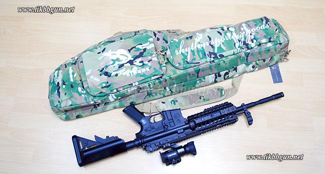 กระเป๋าปืนแบบผ้า 2 ด้าน สำหรับ M4 ปลาโลมา ลายมัลติแคม
