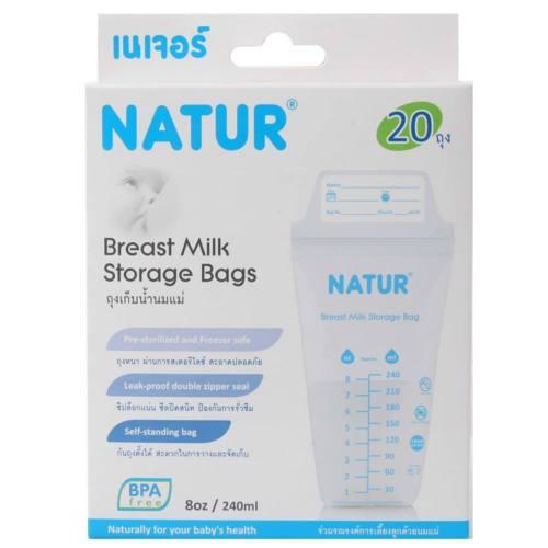 ถุงเก็บน้ำนมเนเจอร์ Natur BPA Free แพ็ค 20 ถุง
