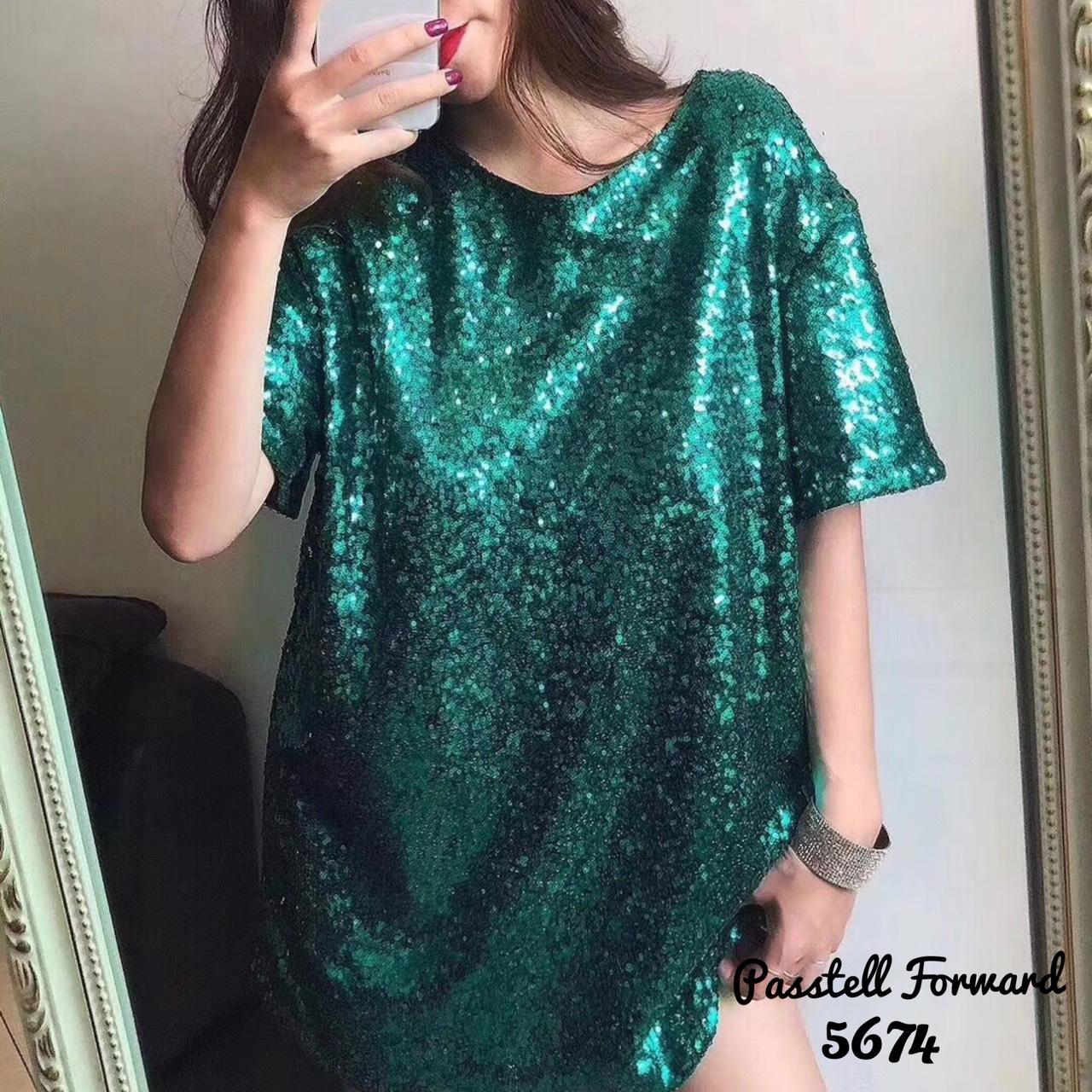 เสื้อแฟชั่นสีเขียว