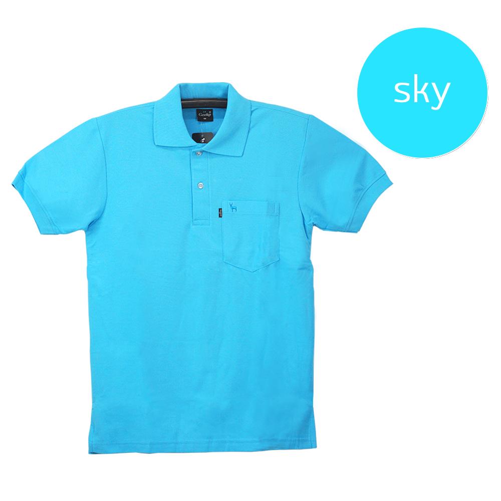 เสื้อโปโลชายสีฟ้า